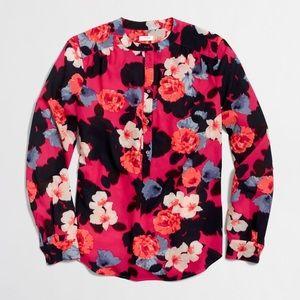 J Crew Factory Floral Blouse XS